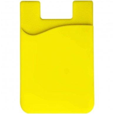 Banko kortelių dėklas, klijuojamas prie telefono nugarėlės įvairių spalvų