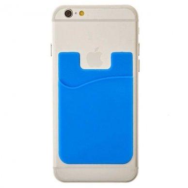 Banko kortelių dėklas, klijuojamas prie telefono nugarėlės įvairių spalvų 4