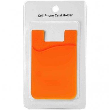 Banko kortelių dėklas, klijuojamas prie telefono nugarėlės įvairių spalvų 5