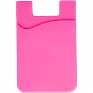 Banko kortelių dėklas, klijuojamas prie telefono nugarėlės įvairių spalvų 6