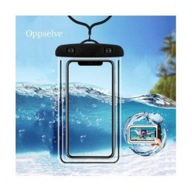 Atsparus vandeniui universalus telefono dėklas (įvairių dydžių) 4
