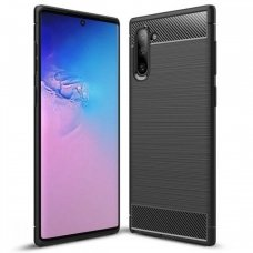 Samsung galaxy Note 10 dėklas carbon lux silikonas juodas