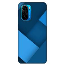 """Xiaomi Poco F3 TPU dėklas unikaliu dizainu 1.0 mm """"u-case Airskin Blue design"""""""