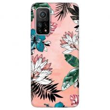"""Xiaomi Mi 10T / Mi 10T Pro TPU dėklas unikaliu dizainu 1.0 mm """"u-case Airskin Flowers 1 design''"""