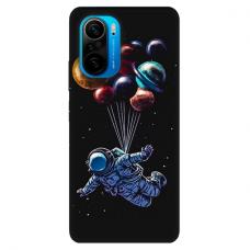"""Xiaomi Poco F3 TPU dėklas unikaliu dizainu 1.0 mm """"u-case Airskin Cosmo design"""""""