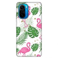"Xiaomi Poco F3 TPU dėklas unikaliu dizainu 1.0 mm ""u-case Airskin Flamingos design"""