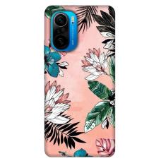"""Xiaomi Poco F3 TPU dėklas unikaliu dizainu 1.0 mm """"u-case Airskin Flowers 1 design''"""