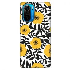 """Xiaomi Poco F3 TPU dėklas unikaliu dizainu 1.0 mm """"u-case Airskin Flowers 2 design''"""