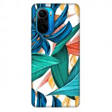 """Xiaomi Poco F3 TPU dėklas unikaliu dizainu 1.0 mm """"u-case Airskin Leaves 1 design"""""""