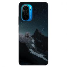 """Xiaomi Poco F3 TPU dėklas unikaliu dizainu 1.0 mm """"u-case Airskin Mountains 1 design"""""""