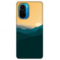 """Xiaomi Poco F3 TPU dėklas unikaliu dizainu 1.0 mm """"u-case Airskin Mountains 2 design"""""""