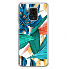 "Xiaomi Redmi Note 9s/ 9 Pro TPU dėklas unikaliu dizainu 1.0 mm ""u-case Airskin Leaves design"""