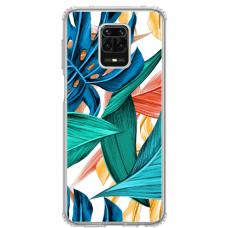 """Xiaomi Redmi Note 9 Pro Max TPU dėklas unikaliu dizainu 1.0 mm """"u-case Airskin Leaves 1 design"""""""
