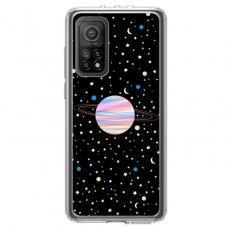 """Xiaomi Mi 10T TPU dėklas unikaliu dizainu 1.0 mm """"u-case Airskin Planet design"""""""