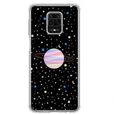 """Xiaomi redmi note 9 pro max TPU dėklas unikaliu dizainu 1.0 mm """"u-case Airskin Planet design"""""""