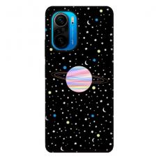 """Xiaomi Poco F3 TPU dėklas unikaliu dizainu 1.0 mm """"u-case Airskin Planet design"""""""