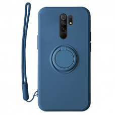 Xiaomi redmi 9 dėklas su magnetu Pastel Ring mėlynas