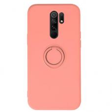 Xiaomi Redmi 9 dėklas su magnetu Pastel Ring rožinis