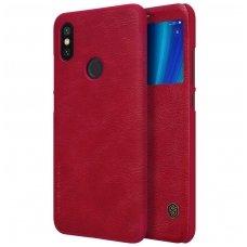Xiaomi Mi A2 (Mi 6x) atverčiamas dėklas Nillkin Qin oda raudonas