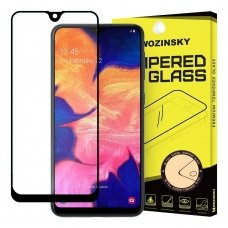 akcija! samsung galaxy a10 lenktas grūdintas apsauginis stiklas wozinsky H Pro 5D FULL GLUE juodais kraštais
