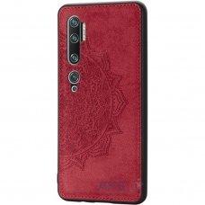 xiaomi mi note 10 / mi note 10 pro dėklas Mandala TPU+ medžiaginis pluoštas raudonas