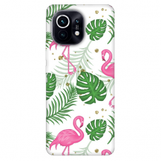 "Xiaomi Mi 11 TPU dėklas unikaliu dizainu 1.0 mm ""u-case Airskin Flamingos design"""