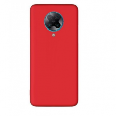 xiaomi poco f2 pro dėklas Liquid Silicone raudonas