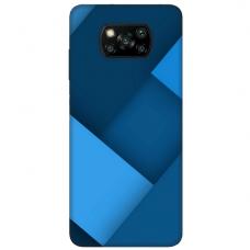 """Xiaomi Poco X3 NFC TPU dėklas unikaliu dizainu 1.0 mm """"u-case Airskin Blue design"""""""