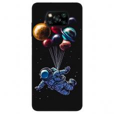 """Xiaomi Poco X3 NFC TPU dėklas unikaliu dizainu 1.0 mm """"u-case Airskin Cosmo design"""""""