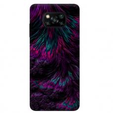 """Xiaomi Poco X3 NFC TPU dėklas unikaliu dizainu 1.0 mm """"u-case Airskin Feather design"""""""