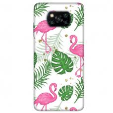 "Xiaomi Poco X3 NFC TPU dėklas unikaliu dizainu 1.0 mm ""u-case Airskin Flamingos design"""