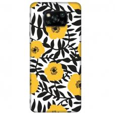 """Xiaomi Poco X3 NFC TPU dėklas unikaliu dizainu 1.0 mm """"u-case Airskin Flowers 2 design''"""
