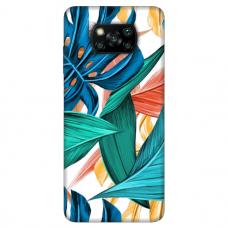 """Xiaomi Poco X3 NFC TPU dėklas unikaliu dizainu 1.0 mm """"u-case Airskin Leaves 1 design"""""""