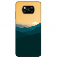 "Xiaomi Poco X3 NFC TPU dėklas unikaliu dizainu 1.0 mm ""u-case Airskin Mountains 2 design"""