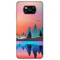 """Xiaomi Poco X3 NFC TPU dėklas unikaliu dizainu 1.0 mm """"u-case Airskin Nature 5 design"""""""