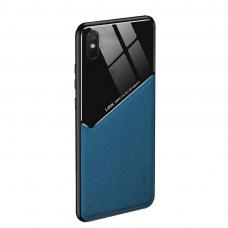Xiaomi Redmi 9A dėklas su įmontuota metaline plokštele LENS case mėlynas