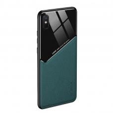 Xiaomi Redmi 9A dėklas su įmontuota metaline plokštele LENS case Žalias