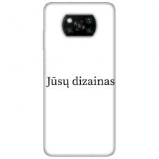 Xiaomi Poco X3 NFC TPU dėklas nugarėlė su jūsų dizainu. Dėklas gaminamas su jūsų pateikta nuotrauka