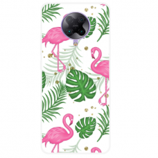 "Xiaomi Poco F2 pro TPU dėklas unikaliu dizainu 1.0 mm ""u-case Airskin Flamingos design"""