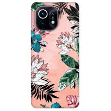 """Xiaomi Mi 11 TPU dėklas unikaliu dizainu 1.0 mm """"u-case Airskin Flowers 1 design''"""