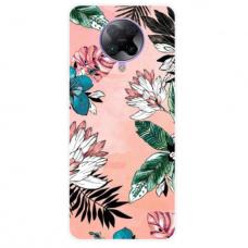 """Xiaomi Poco F2 pro TPU dėklas unikaliu dizainu 1.0 mm """"u-case Airskin Flowers 1 design''"""