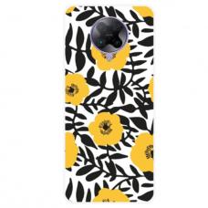 """Xiaomi Poco F2 pro TPU dėklas unikaliu dizainu 1.0 mm """"u-case Airskin Flowers 2 design''"""