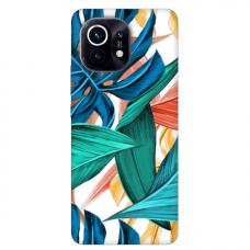 """Xiaomi Mi 11 TPU dėklas unikaliu dizainu 1.0 mm """"u-case Airskin Leaves 1 design"""""""