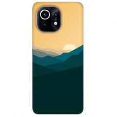 """Xiaomi Mi 11 TPU dėklas unikaliu dizainu 1.0 mm """"u-case Airskin Mountains 2 design"""""""