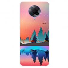"""Xiaomi Poco F2 pro TPU dėklas unikaliu dizainu 1.0 mm """"u-case Airskin Nature 5 design"""""""