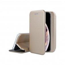 AKCIJA! Samsung galaxy a10 atverčiamas dėklas Book elegance odinis auksinis