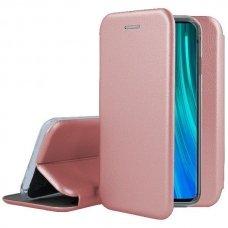 xiaomi Redmi Note 8 Pro atverčiamas dėklas Book elegance odinis rožinis