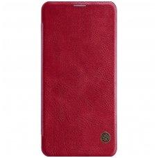 Xiaomi Pocophone F1 atverčiamas dėklas Nillkin Qin tikra oda Raudonas
