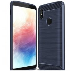 "Xiaomi Pocophone F1 dėklas ""Carbon case"" TPU mėlynas"