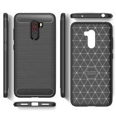 "Xiaomi Pocophone F1 dėklas ""Carbon case"" TPU juodas"